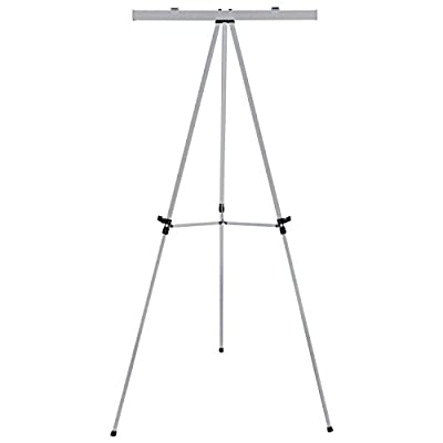 "US Art Supply ""Classroom"" Large Jumbo 66"" Tall Silver Aluminum Flipchart Display & Presentation Easel"