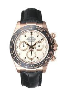 Rolex Daytona Mens Rose Gold Watch Chocolate Dial Black Leather Strap 116515 LN Unworn Box & - Gold Watches Rose Rolex