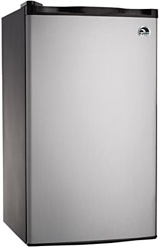 RCA RFR321-FR320/8 IGLOO Mini Refrigerator, 3.2 Cu Ft Fridge, Stainless Steel (Renewed)