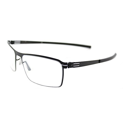 Ic Berlin Juan Black Metal Rectangle Eyeglasses 56mm
