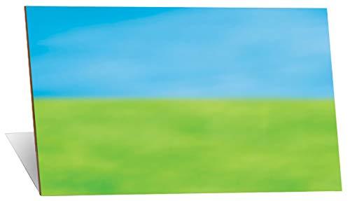 Little Folk Visuals Small Mounted Flannel Board, Blue/Green