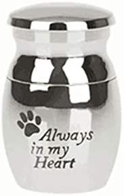 XJYWJ 灰、チタン鋼、開閉式、灰、缶、ペットのお土産、ペットの猫と犬のns、配置、足跡 (色 : 白い)