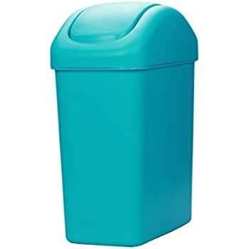 Hflove Plastic Trash Can Thicken Kitchen Trash Bin With Swing Top Lid ,2.1  Gallon (