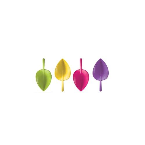 7 x 5 cm Juego de 4 cucharillas en forma de hoja Designs 2017-8582 Fulla Zak