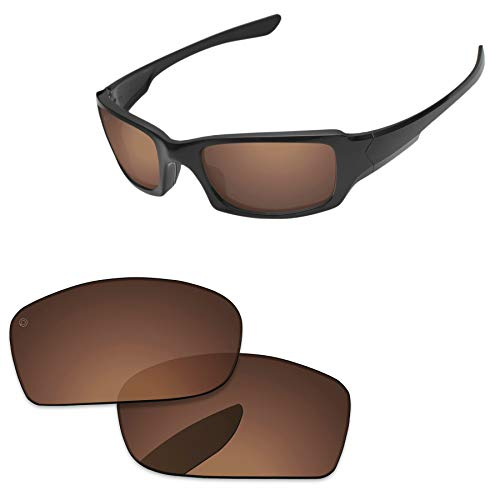 PapaViva Lenses Replacement for Oakley Fives Squared Pro+ Copper Brown Polarized