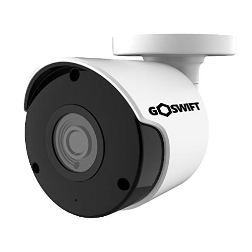 Factory Plug In Bundle - Goswift 4K Ultra HD Weatherproof Bullet Security IP Camera 8MP 3840x2160, 100 Foot Night Vision, 3.6mm Wide Angle Lens, POE, Onvif