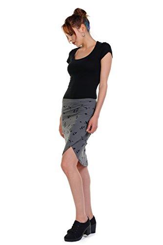 hecha la en Falda Berl rodilla 3elfen casual a Verano Ropa Mujer q6gH8