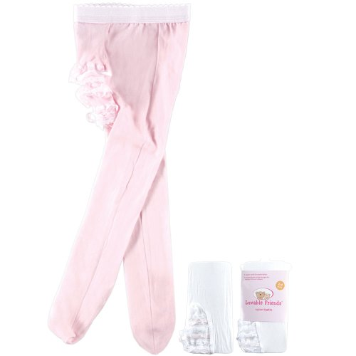 Luvable Friends Fancy Ribbon Rhumba Tights For Baby, Pink
