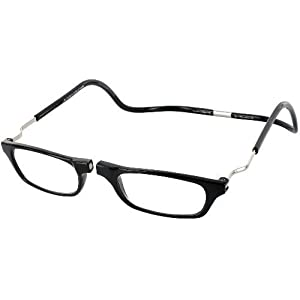 CliC Reader XXL Single Vision Half Frame Designer Reading Glasses, Black, +1.50