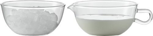 Jenaer Glas Wagenfeld Collection Glass Sugar Bowl and Cre...