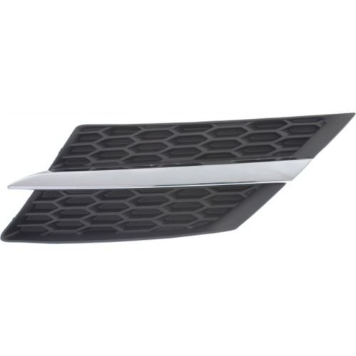 MAPM Driver Side Car & Truck Grilles Plastic Textured Black Radiator Grille; With chrome molding; Without emblem provision TO1200360 FOR 2013-2015 Toyota RAV4
