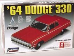 #72176 Lindberg '64 Dodge 330 1/25 Scale Plastic Model Kit,Needs Assembly