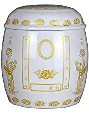 XSWZAQ Cremation Urns Burial Ceramic Urns For A Small Amount Human Or Pets Ashes Memorial At Home Good Sealing Creative Shape (Color : A)