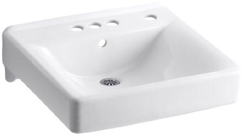 KOHLER K-2054-R-0 Soho Wall-Mount Bathroom Sink with 4