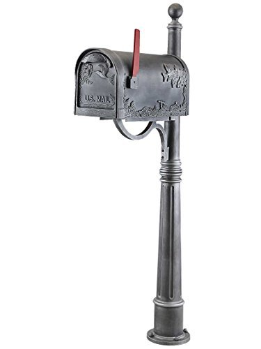 Special Lite Hummingbird Curbside Mailbox with Ashland Mailbox Post Unit