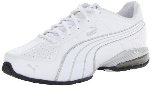 Cheap PUMA Men's Cell Surin Cross-Training Shoe,White/White/PUMA Silver,6.5 M US