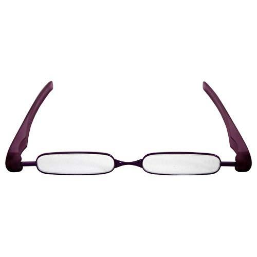 Podreader 휴대용 패션 시니어 글래스 안경 돋보기 보라색 +2.0