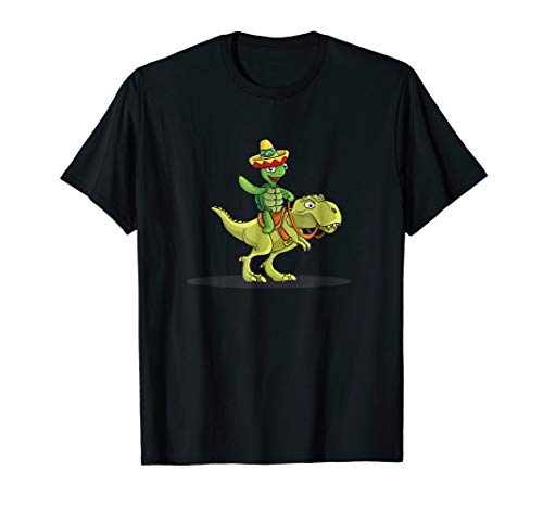Turtle T-Rex Dinosaurs shirt Funny Graphic Costume T-Shirt -