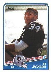 1988 Topps Bo Jackson Rookie Football Card #327 - Shipped In Protective Display Case!