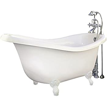 black and white clawfoot tub. the chelsea collection cc-sc-c-wh slipper claw foot tub package black and white clawfoot