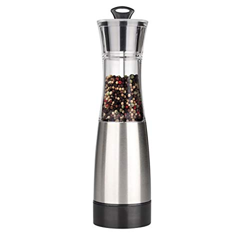Pepper Grinder, Salt Mills - iNeibo Gravity Induction,Grind Automatic, Battery Powered Pepper Mills, Stainless Steel, 100% Ceramic Grinding Mechanism