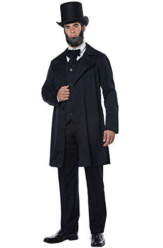 California Costumes Men's Abraham Lincoln-Frederick Douglass-Adult Costume, Black, X-Small -