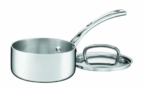 Cuisinart FCT19-14 French Classic Tri-Ply Stainless 1-Quart Saucepan with Cover