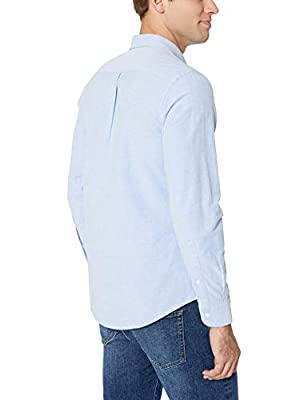 Amazon Essentials Men's Slim-fit Long-Sleeve Solid Oxford Shirt