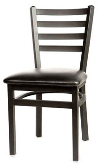 Oak Street Dining Chair metal ladder back seat to be specified silvervein finish - SL2160SV
