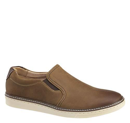 Tan Oiled Full Grain - Johnston & Murphy Men's McGuffey Slip-On Shoe Light Tan Oiled Full Grain Leather 9.5 M US