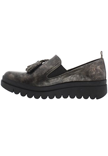 Fly London HECT793FLY, Womens Wedges, ANT. SILVER, 40 EU