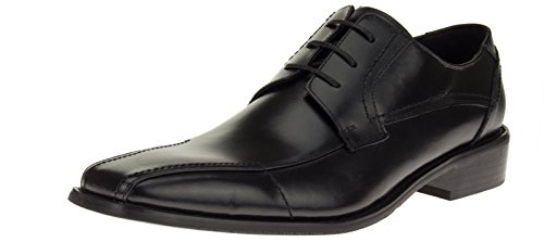 (Men's Designer Fashion Oxford Leather Shoes Modern Lace-Up Z6055 Black (11 D(M) US, Black))