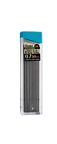 Pentel Super Hi-Polymer Lead Refill , 0.7  mm Medium, HB, 90 Pieces of Lead (C27BPHB3-K6)
