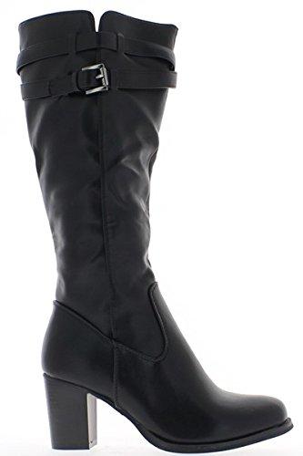 ChaussMoi - Botas de sintético para mujer, color marrón, talla 40