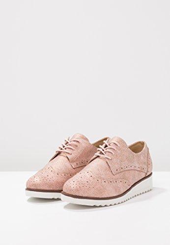 Derby Nude Cordones De Anna Field Metlico Para Elegantes Oxford Estilo  Acabado Trabajo Zapatos El Zapatillas Mujer ... 0d7ca8d622e