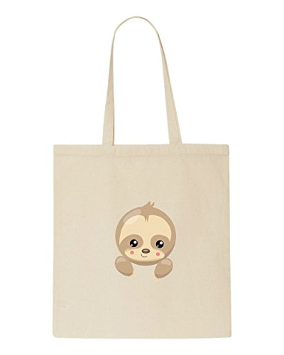Bag Sloth Tote Beige Shopper Character Cute Six Plain FXfwxqrP6F