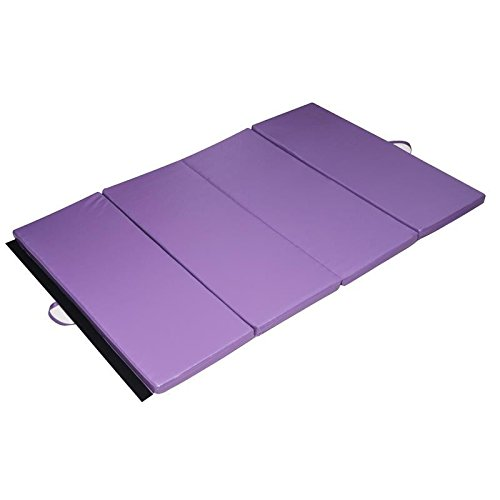 Gymnastics Tumbling Martial Arts Folding Mat 4' x 6' x 2''Exercise Yoga Pad With Ebook by MRT SUPPLY