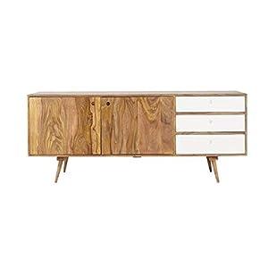BL Wood Furniture Sheesham Wood Eva Sideboard Storage for Living Room | Cabinet Storage for Home | Brown Finish