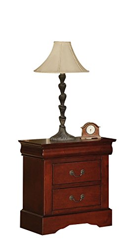 ACME 19523 Louis Philippe III Nightstand, Cherry Finish ()