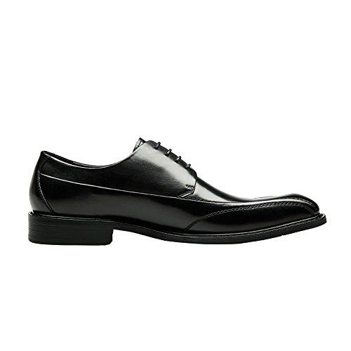 Kangnai Hommes Affaires En Cuir Doublé Snipe Orteils Oxford Lace Up Robe Chaussures Noir