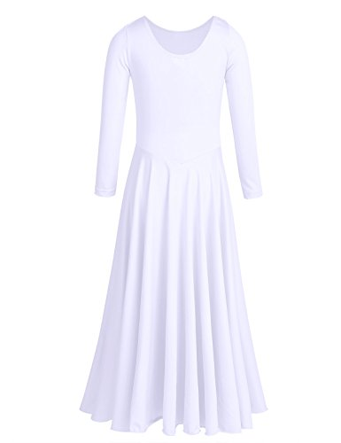 TiaoBug-Girls-Praise-Liturgical-Loose-Fit-Full-Length-Long-Sleeve-Dance-Dress-Dancewear-Costume-White-7-8