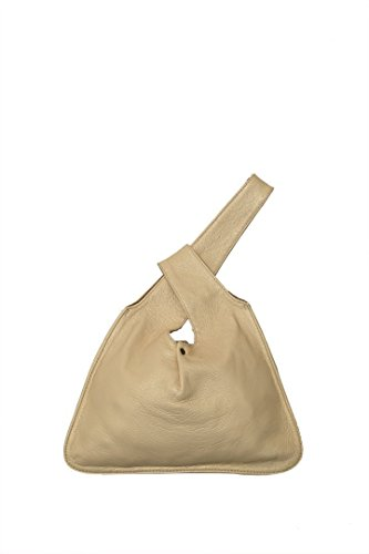 Lily and Lola Baby Jane Wristlet Bag in cream Lamb Leather by Lily and Lola Handbags