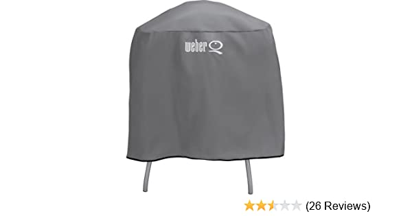 Amazon.com : Weber Q Full Lenght Vinyl Cover For Q Series Grill on Cart or Stand 6556 : Garden & Outdoor