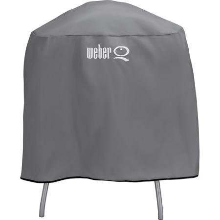 Weber Q Full Lenght Vinyl Cover For Q Series Grill on Cart or Stand 6556 (Weber Grill Cover Q 200)