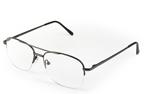 Optx 20/20 Aviator Reading Glasses, Gunmetal, +300 (Reading Wear Glasses)