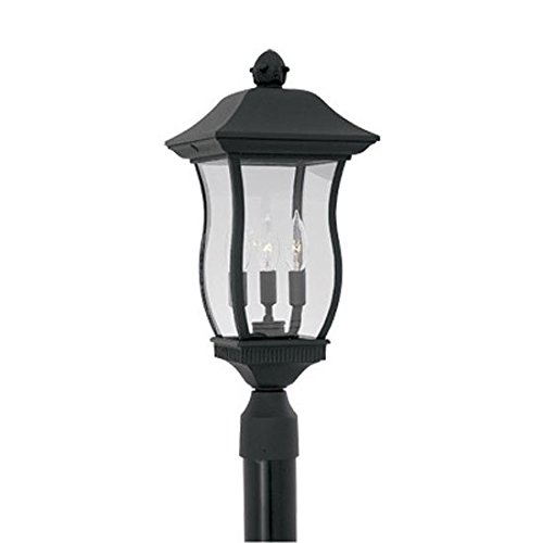 Cast Aluminum One Light - Designers Fountain 2726-BK Chelsea 9 Inch Post Lantern