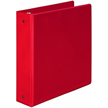 Amazon.com : Wilson Jones 368 Basic Round Ring Binder, 2 Inch, Red ...