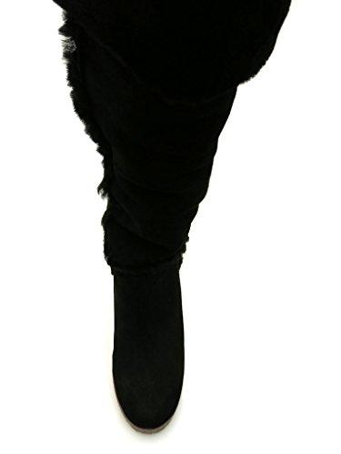 Giudecca - Botas de cuero para mujer negro - negro