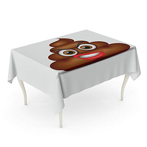 - Tarolo Rectangle Tablecloth 60 x 90 Inch Brown Shit Angry Poo Emoticon Poop Face Bullshit Cartoon Character Chat Collection Table Cloth