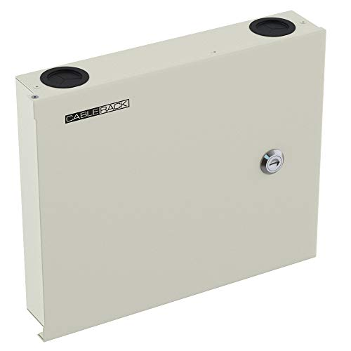 CableRack Fiber Optic Wall Mount Enclosure Box with Slots for 12 LC ST SC or FC Couplers